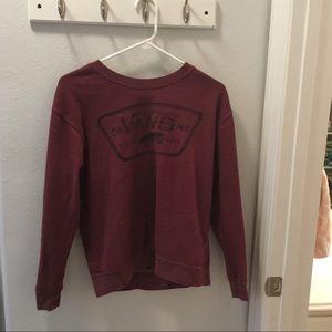 Vans Maroon Long Sleeve Shirt With Vans Print S💕